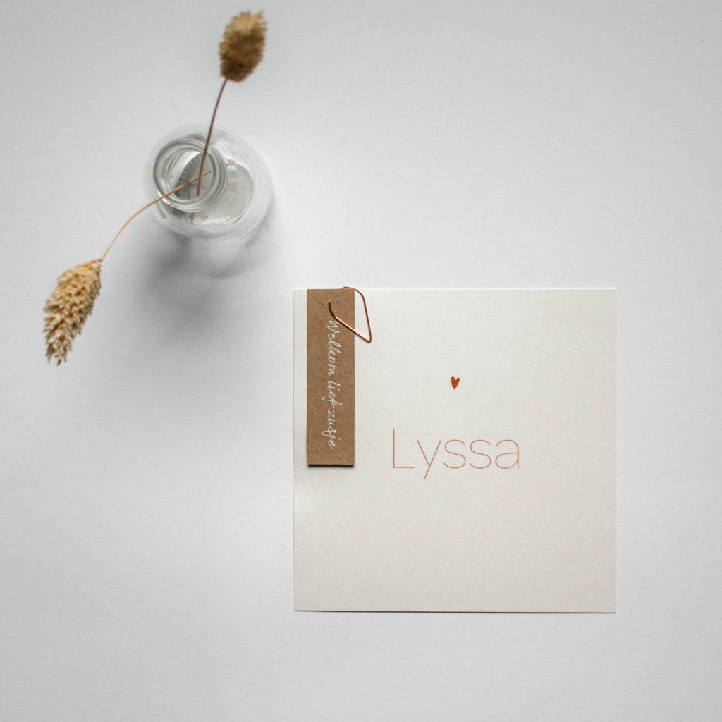 Geboortekaartje Lyssa