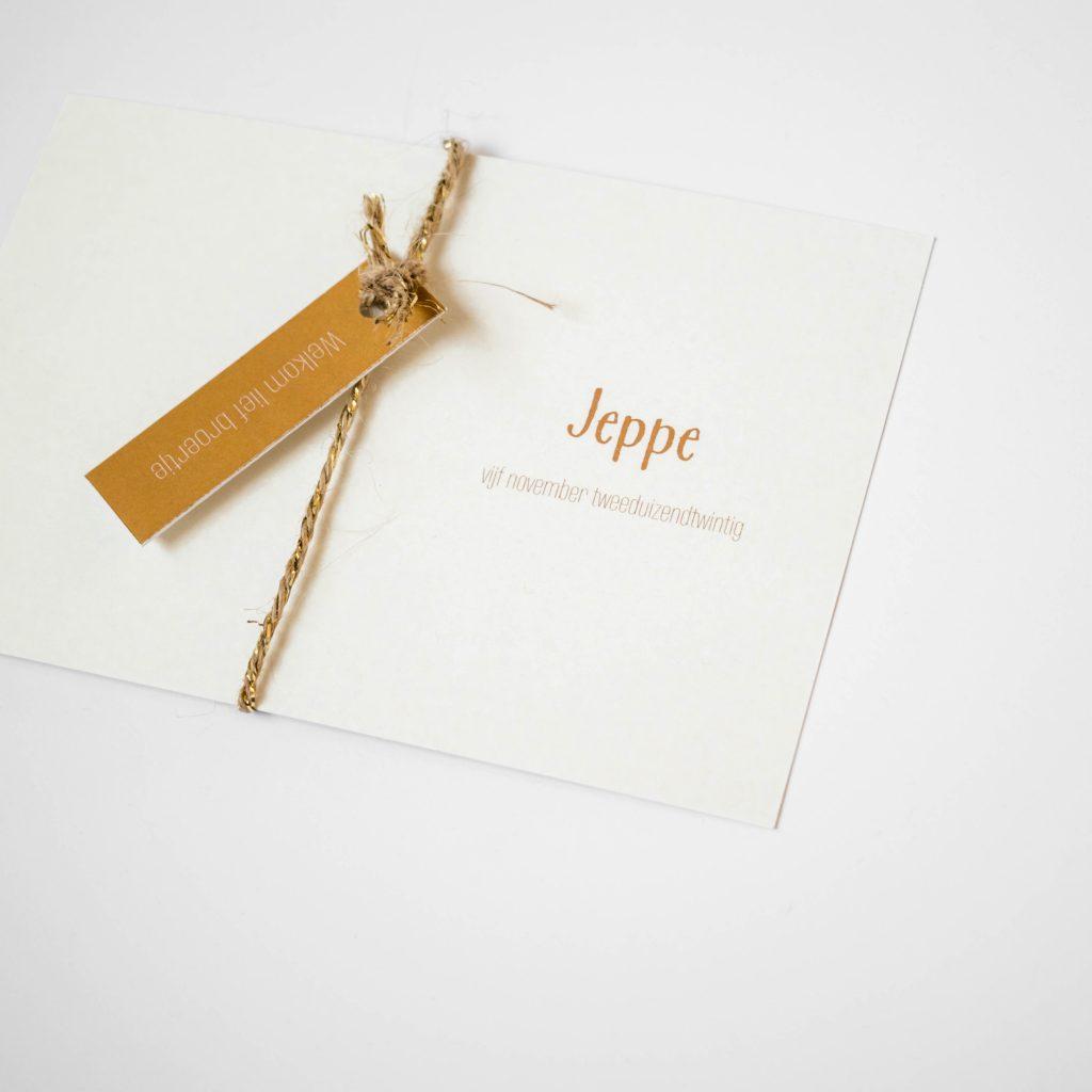 Geboortekaartje Jeppe