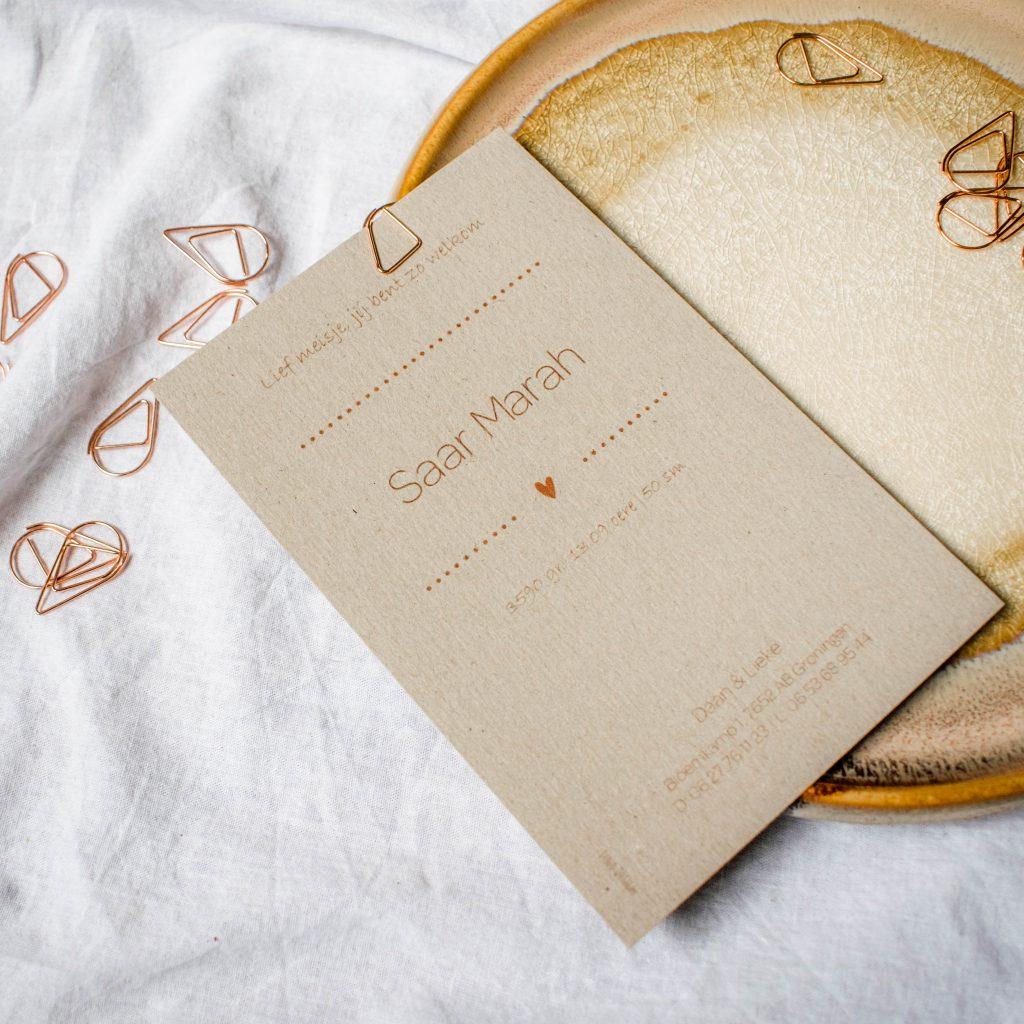 Geboortekaartje Saar