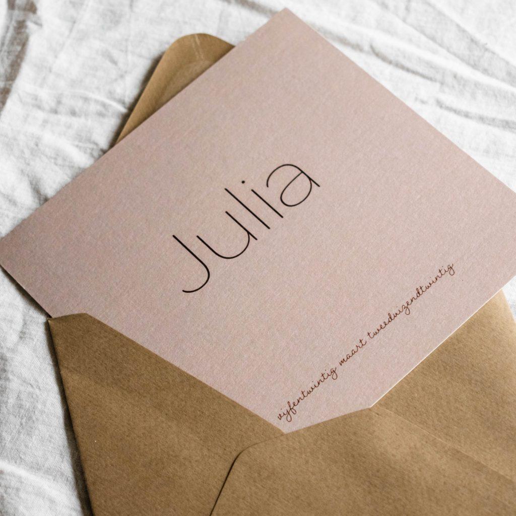 Geboortekaartje Julia