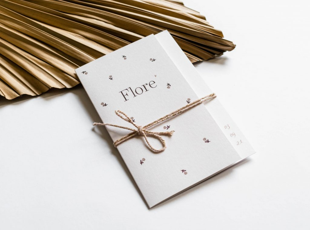 Geboortekaartje Flore