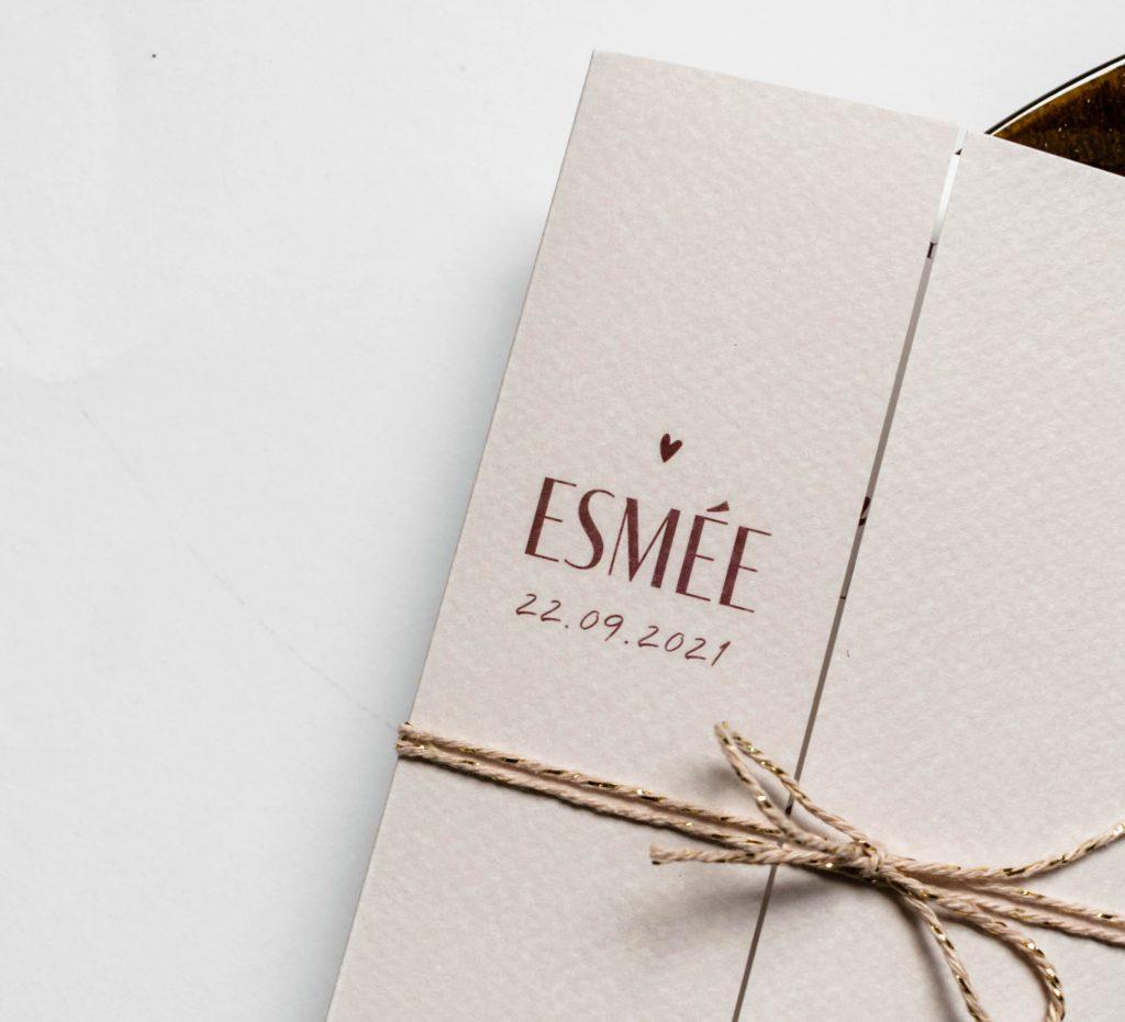Geboortekaartje Esmee