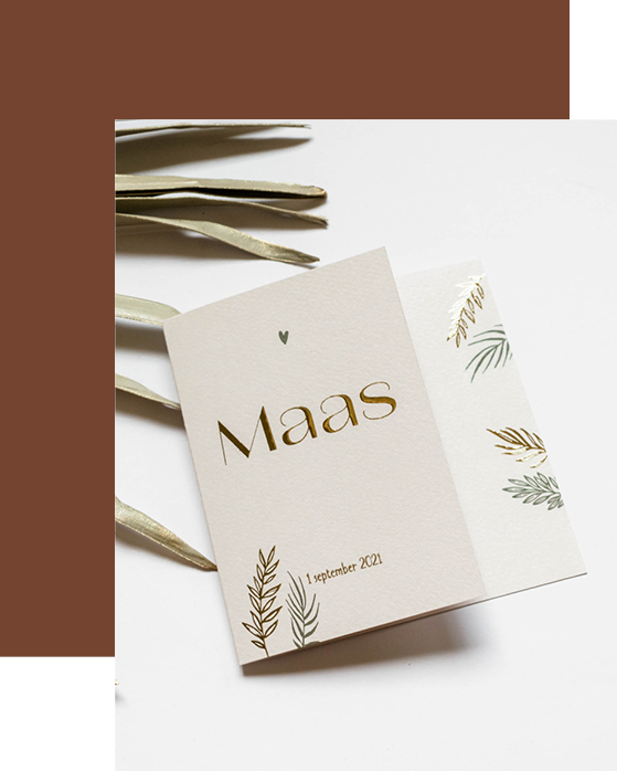 Geboortekaartje Maas
