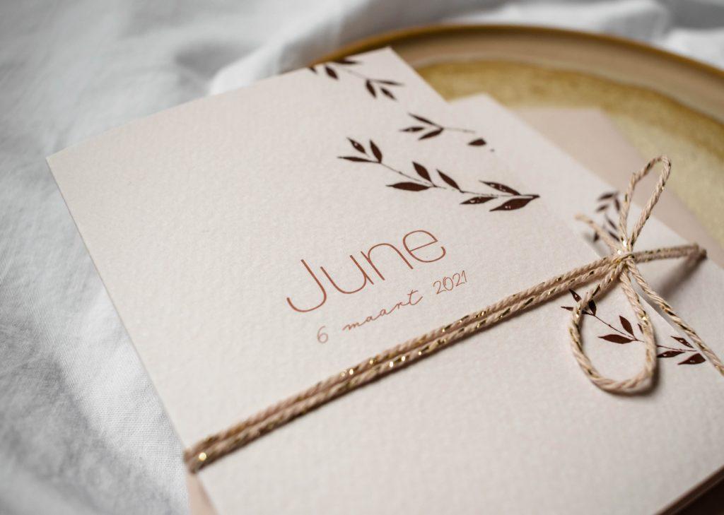 Geboortekaartje June