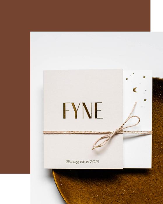 Geboortekaartje Fyne
