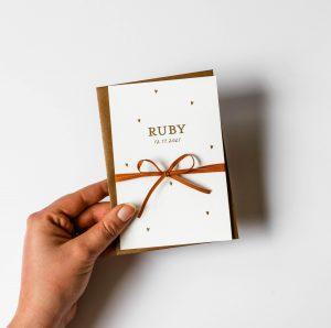 Geboortekaartje Ruby